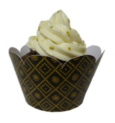 """Shweshwe"" Cupcake Wrappers (Pack of 12)"
