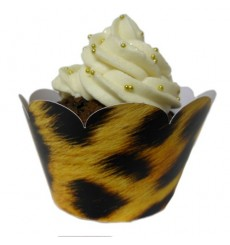 """Wild Animal"" Cupcake Wrappers (Pack of 12)"