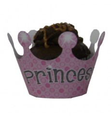"""Princess"" Cupcake Wrappers (Pack of 12)"