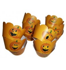 Halloween Pumpkin Cupcake Wrappers (Pack of 12)