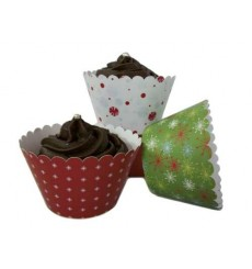 Christmas Trio Cupcake Wrappers (Pack of 12)