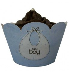 Baby Boy Cupcake Wrappers (Pack of 12)