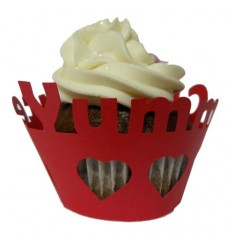 Yumm Chocolate Cupcake Wrappers (Pack of 12)