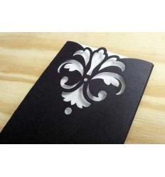 Damask DIY Invitation Kit (Pack of 10)