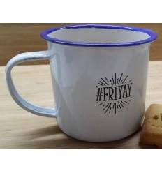 Friyay Enamel Mug