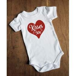 "Valentine ""Kisses 50c"" Onesie"
