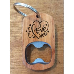 Customised bottle opener keyring