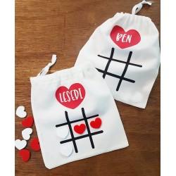 Valentine's Tic Tac Toe Bag