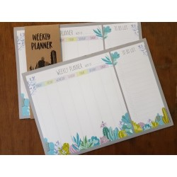 Succulent Weekly Planner (Pad of 12 sheets)