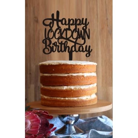 Happy LOCKDOWN Birthday Cake Topper