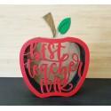 """""""Best Teacher Ever"""" Apple Gift Box"""