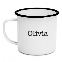 Budget Enamel Mug with Name