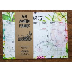 2020 Protea Monthly Planner (Pad of 12)