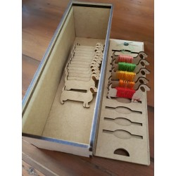 Embroidery Thread Box with Bobbins
