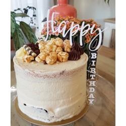 Cascading Happy Birthday Cake Topper