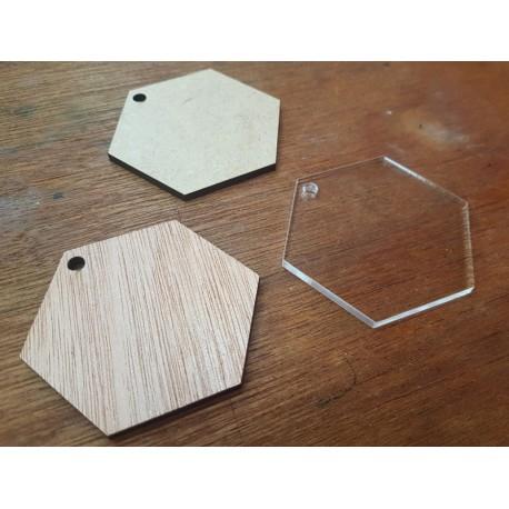 Blank Keyrings (hexagon)