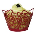 Lace Rose Cupcake Wrappers (Pack of 12)
