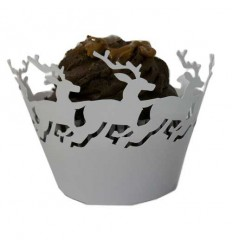 Reindeer Cupcake Wrappers (Pack of 12)