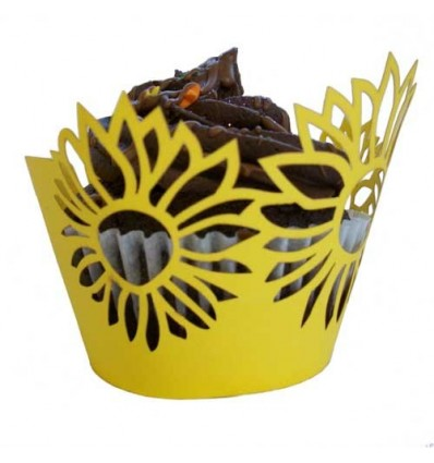 Sunflower Cupcake Wrappers