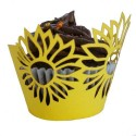 Sunflower Cupcake Wrappers (Pack of 12)