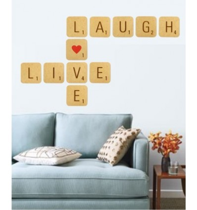 Live, Love, Laugh Giant Scrabble tiles (11 tile kit)