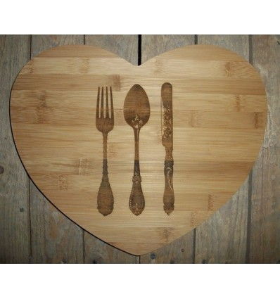 Customised Heart Chopping Board