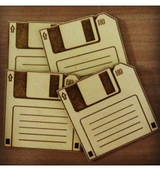 Retro Floppy Disc Coasters (Pack of 4)
