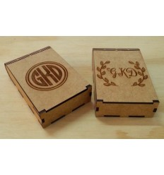 Monogram Business Card Box