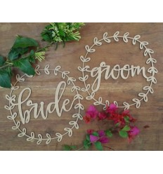 Bride and Groom Chair Signs (Set of 2)
