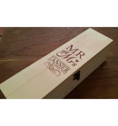 Personalised Wine Bottle Box