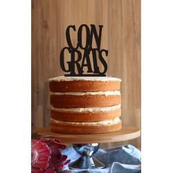 """""""Congrats"""" Cake Topper"""