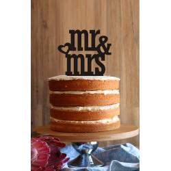 """""""Mrs & Mrs"""" Cake Topper"""