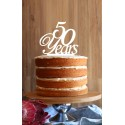 Years Milestone Cake Topper