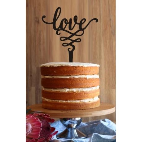 """""""Love"""" Cake Topper"""
