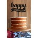 Happy Birthday Scroll Cake Topper