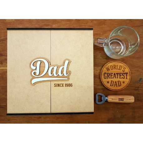 Personalised Dad Hamper- Beer